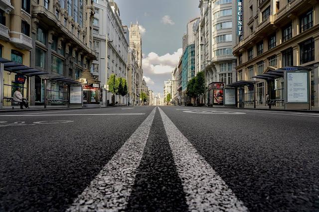 Foto de Luis de Vega: Gran Vía madrileña, 2020.