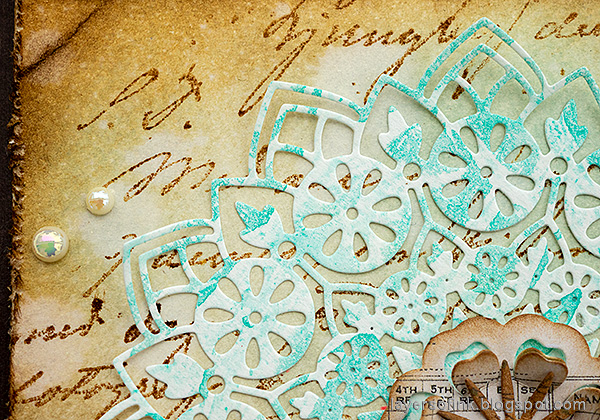 Layers of ink - Mandala Flower Card Tutorial by Anna-Karin Evaldsson.