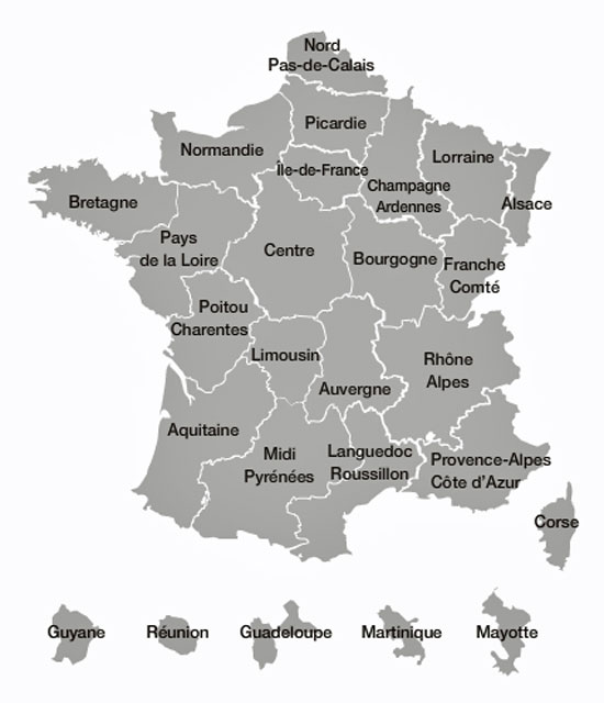 Autour de la gastronomie cartes gastronomie r gions - Cuisine francaise par region ...