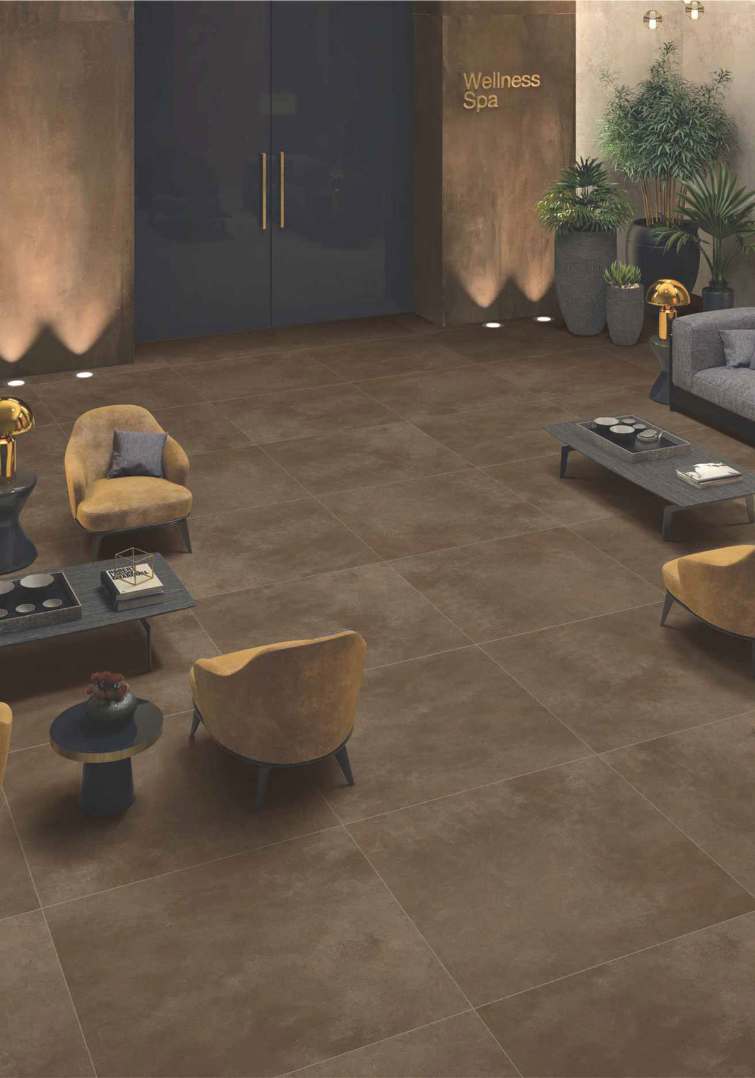 textured porcelain floor tile
