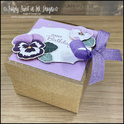 Playtime with the Pansy Petals collection to make a beautiful gift box...exclusive sneak peek!