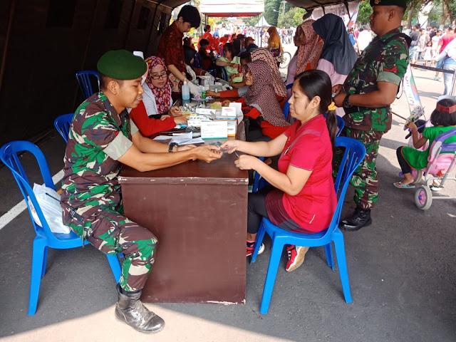 Gandeng Paguyuban SRC Magelang, Yonarmed 11 Kostrad Gelar Cek Kesehatan Gratis