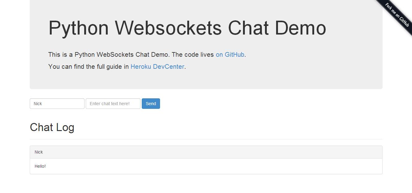 Evolutionary Developer: Heroku's Python Web Sockets Chat App