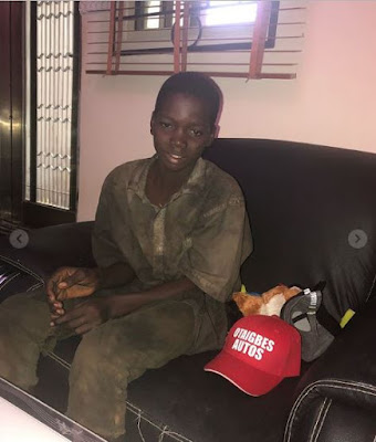 Nigerian Man Promise To Train 13years Old Boy To University Level, After Seeing him work as mechanic