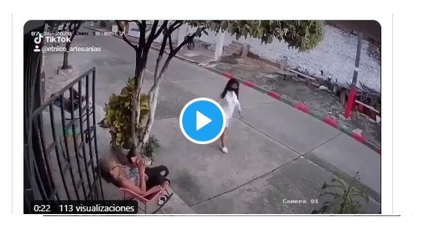 Una mujer espanta a golpes a dos ladrones de celulares (video)