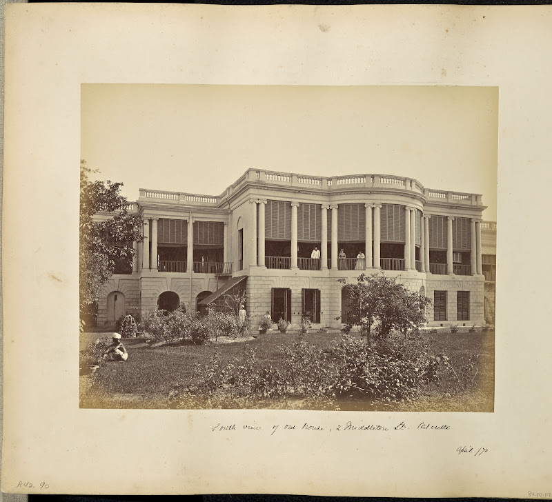 A Residential Building at 2 Middleton Street, Calcutta (Kolkata) - April 1870