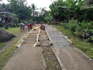 Pembangunan Cor Jalan Dusun Rantobatang RT 01/RW 04 Tahun Anggaran 2020