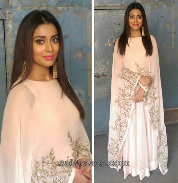 Shriya Saran Georgette Sleeve Less Salwar