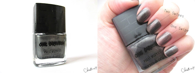 Makeup by One Direction Collection Review Right Now  Liquefied Metallic Steel Nail Varnish Polish