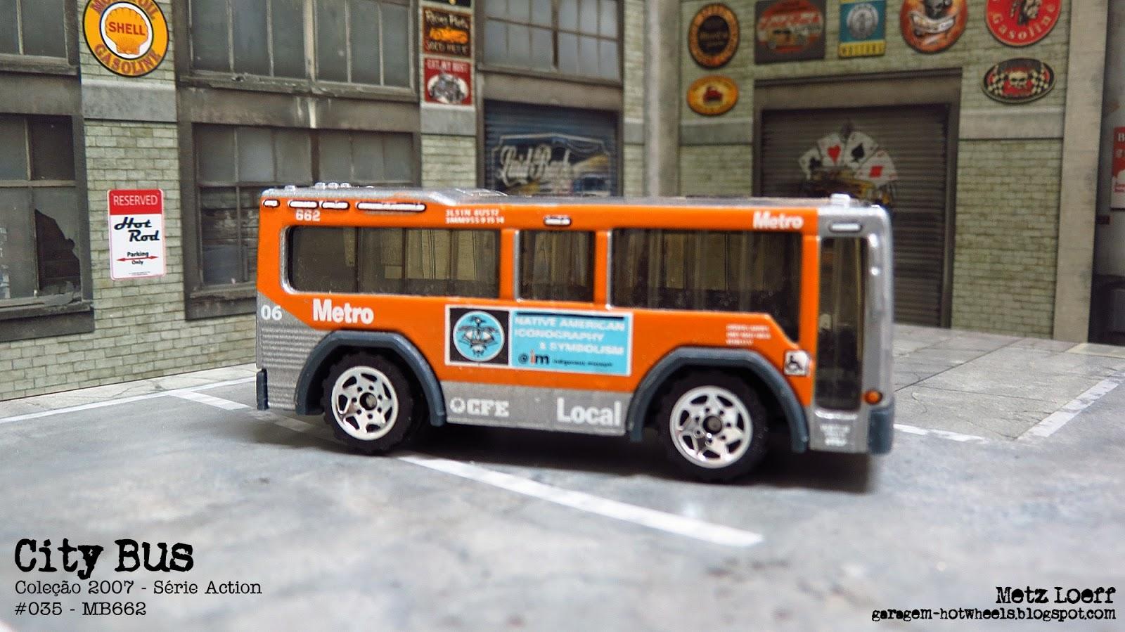 Garagem Hot Wheels Matchbox City Bus