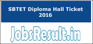 SBTET Diploma Hall Ticket 2016