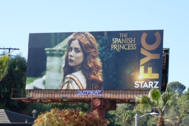 Spanish Princess FYC billboard