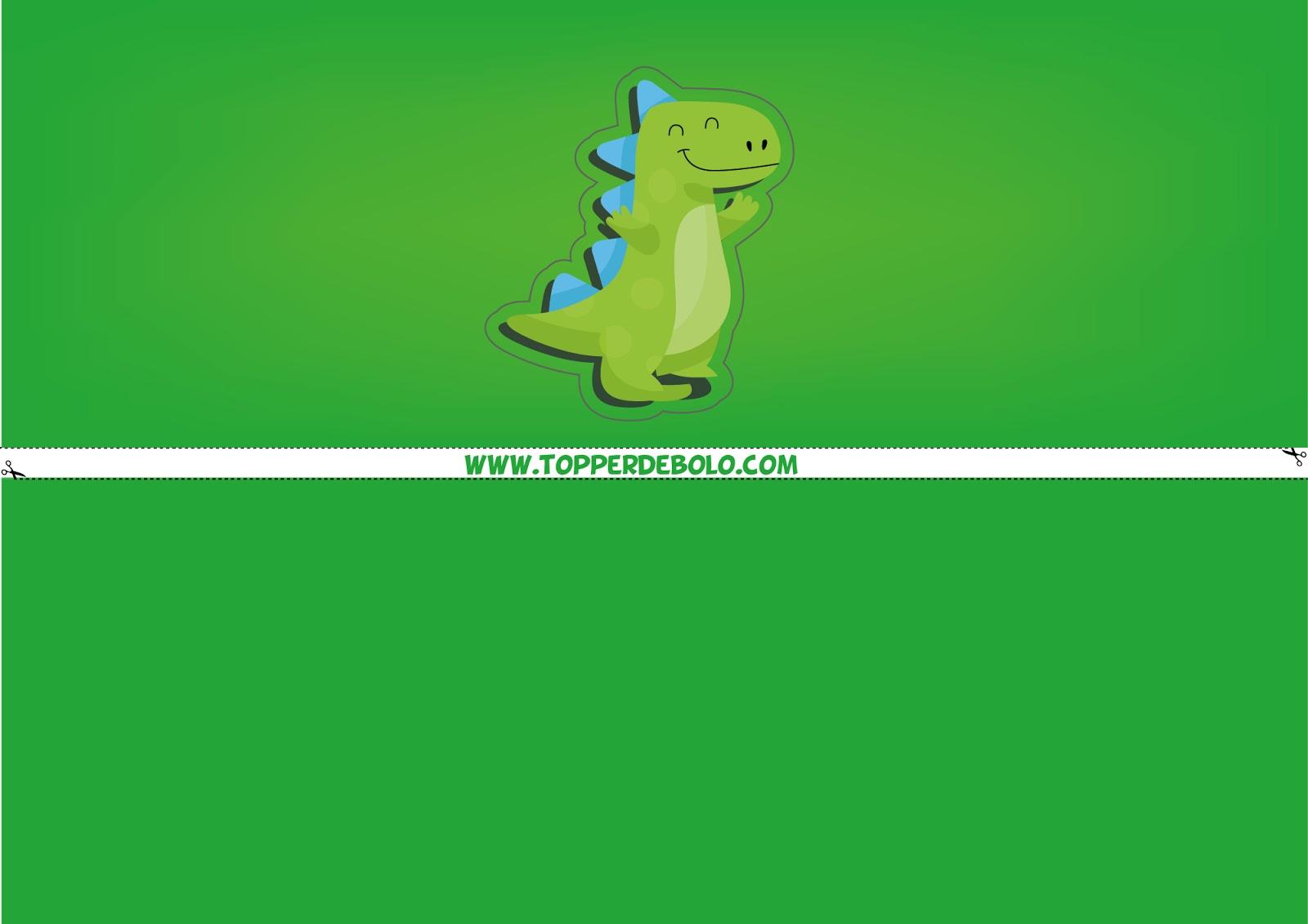 Faixa Lateral Dinossauro Para Imprimir Topper De Bolo Para Imprimir