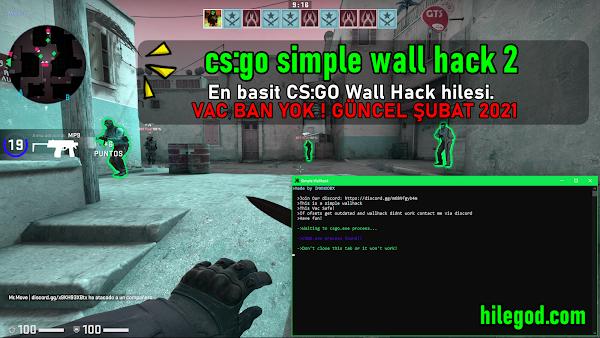 Counter Strike GO Basit WallHack Duvardan Görme Hilesi 15 Şubat 2021