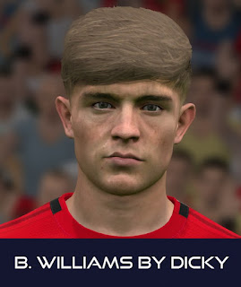 PES 2017 Faces Bernard Williams by Dicky