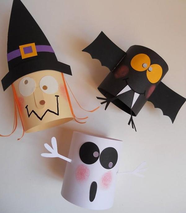 Halloween rollo manualidades bruja fantasma vampiro