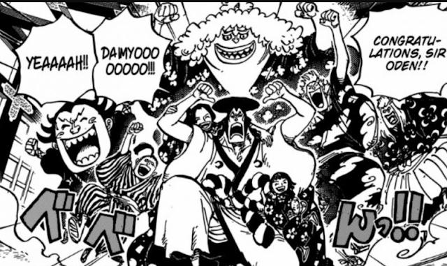 Spoiler One Piece 963 Oden Berlayar di Lautan