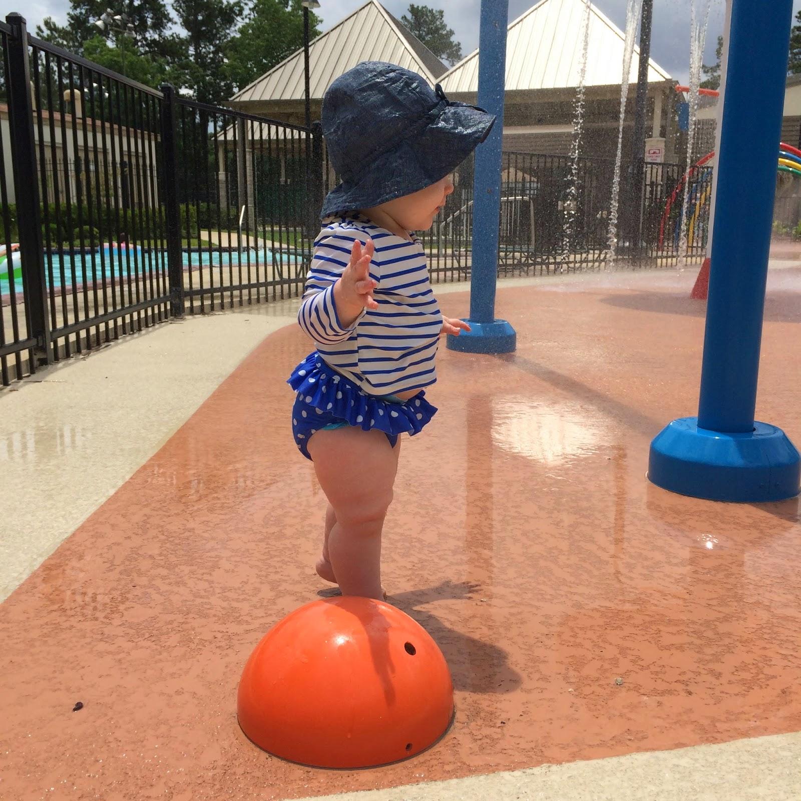 Veronika S Blushing Harper S Nursery Updated: Her Swimsuit/rashguard Is From Baby Gap--- (similar Here