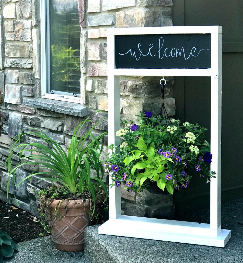 DIY hanging plant stand for porch