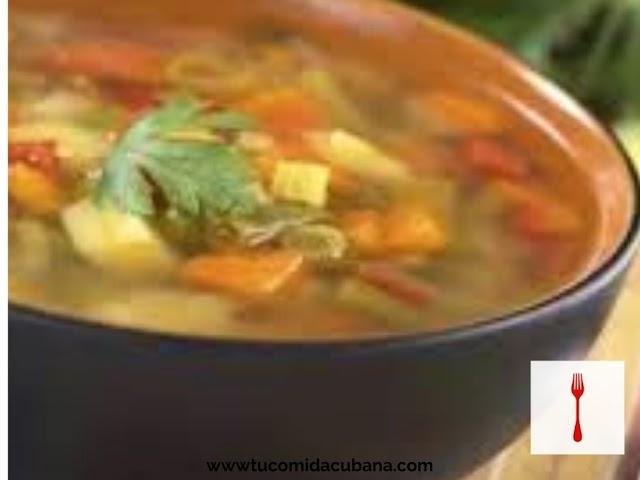 Sopa de Vegetales - Receta de Cuba