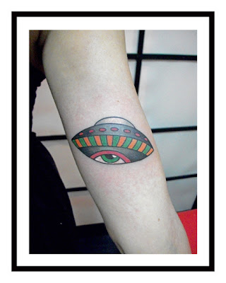 flying saucer tattoo