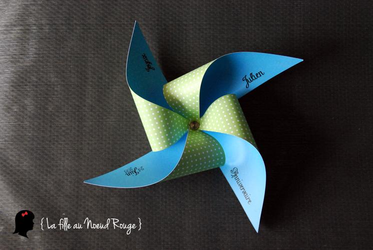 Famous Carte d'anniversaire originale sur-mesure : Moulin à vent - La  YW23