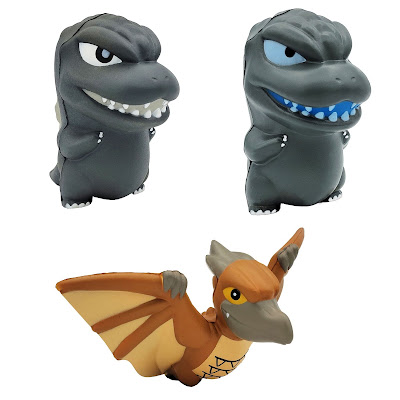 San Diego Comic-Con 2021 Exclusive Godzilla Smashies Stress Doll 3 Pack by Surreal Entertainment