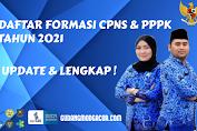 Daftar Formasi CPNS dan PPPK Tahun 2021 Lengkap Terbaru Update di Lingkungan Pemerintah Kabupaten / Kota, Provinsi, Lembaga, dan Kementrian Seluruh Indonesia