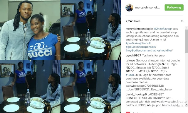 Mercy Johnson was spotted doing this with Flavour (photos)