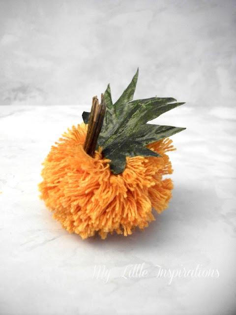 Zucche pom-pom DIY - zucca arancione piccola - MLI