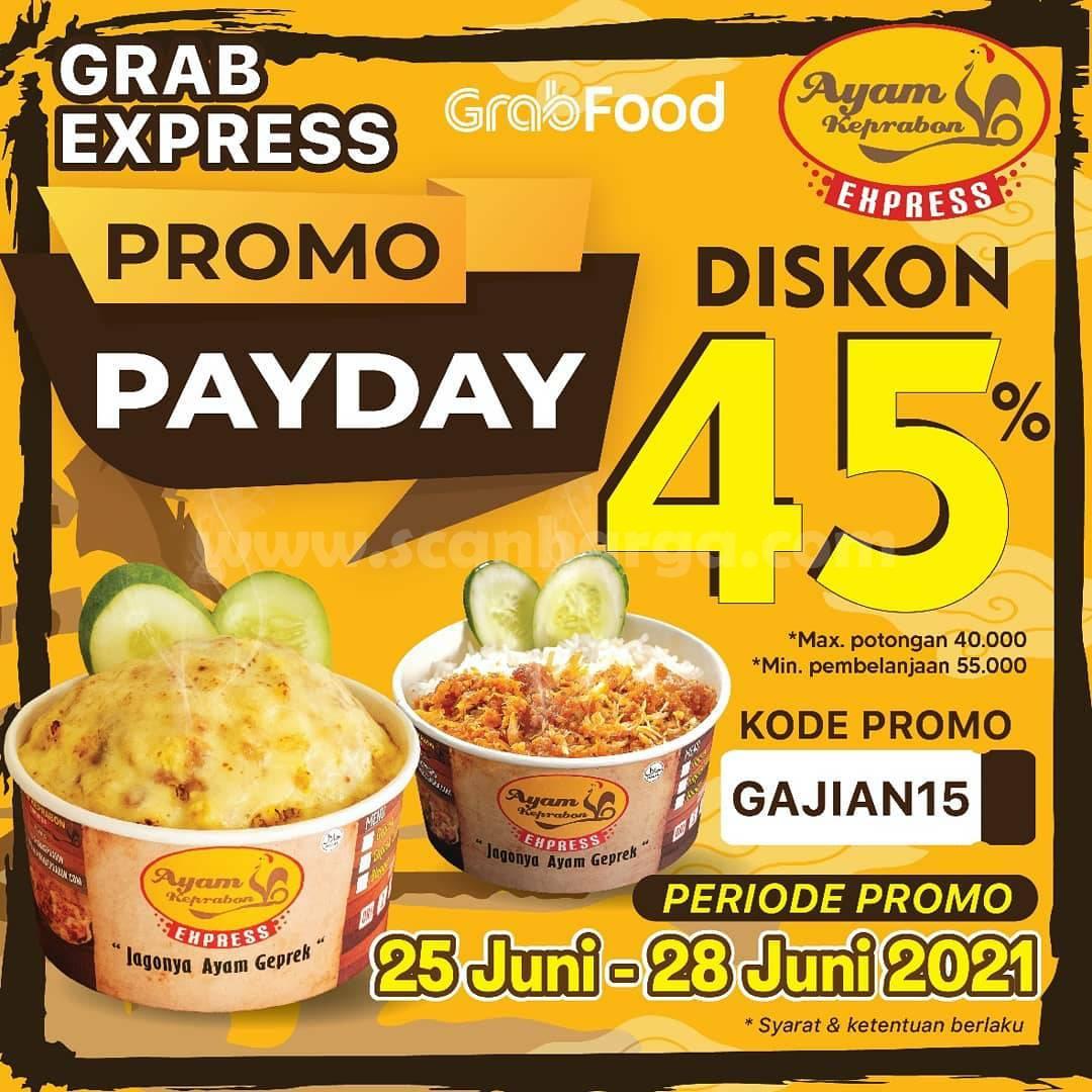 Promo AYAM KEPRABON PAYDAY Diskon hingga 45% Bareng GRABFOOD