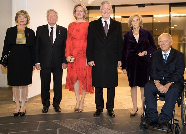 The King and Queen's Berlin visit programe ended with their attendance, Beethoven's Missa Solemnis performance at Berliner Philharmonie concert hall, conducted by Belgian conductor Jan Caeyers