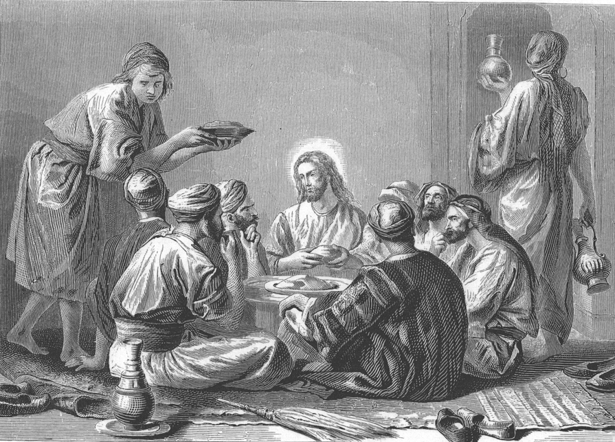 Jesus eats with publicans and sinners - Alexandre Bida