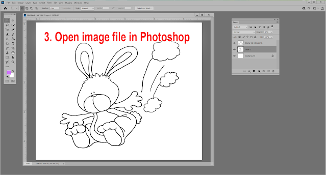 Learn how to use Annie Lang's line art bunny character patterns in Photoshop