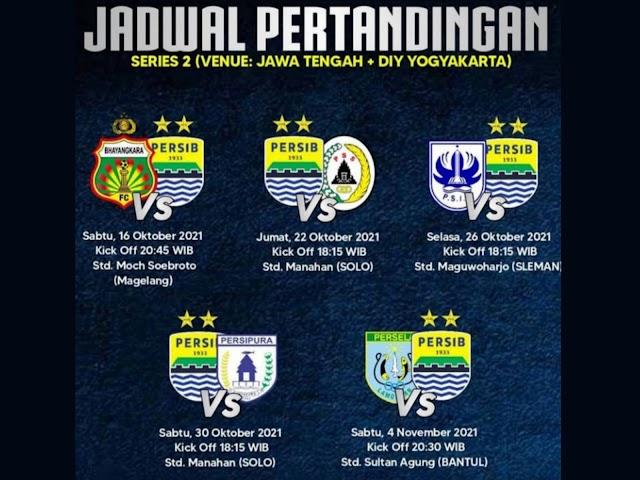 Ini Jadwal Pertandingan Persib di BRI Liga 1 Indonesia Seri 2 Bulan Oktober - November 2021