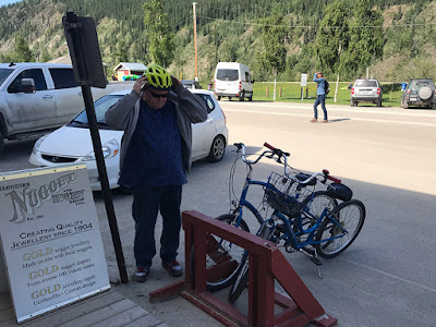 Dawson City had Plenty of Bike Parking