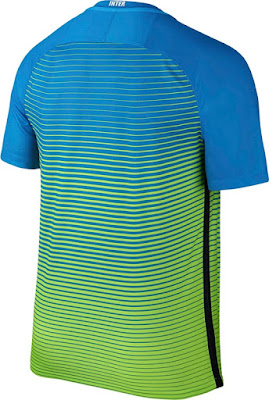 Nike Inter Milan Third '16-'17 Soccer Jersey (Light Blue, Electric Green, White)