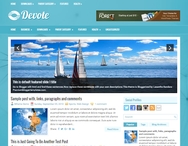 Devote Blogger Template