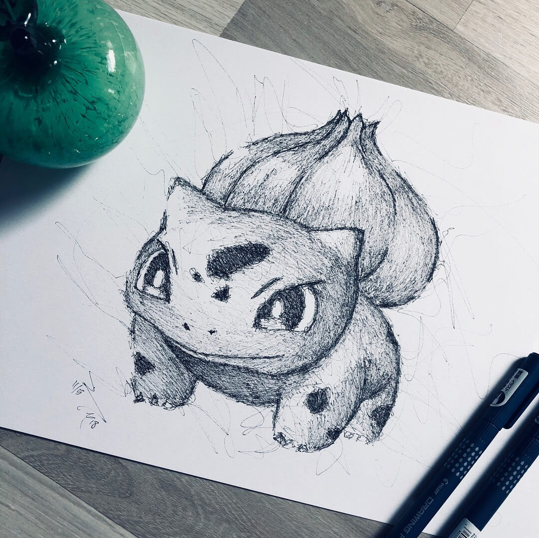 05-Pokemon-Bulbasaur-Jimmy-Mätlik-Fantasy-Animal-drawings-form-the-Movies-www-designstack-co