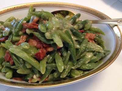 Creamed Green Beans with Bacon