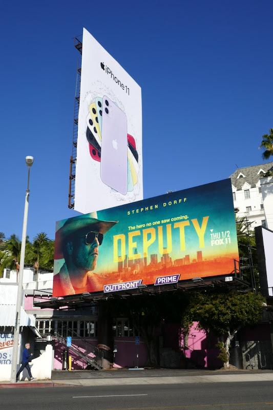 Deputy series premiere billboard