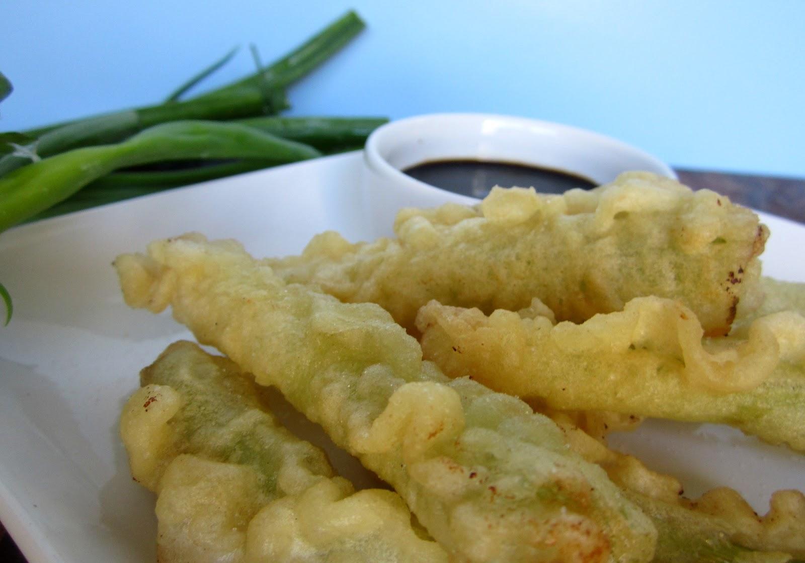 Vegetarian Hates Vegetables: Tempura Fried Green Onions- Vegan