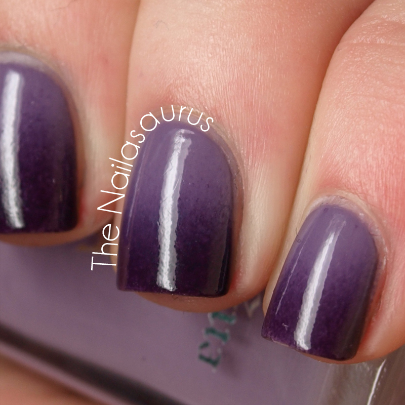 Gradient Nail Art: Purple Gradient - The Nailasaurus