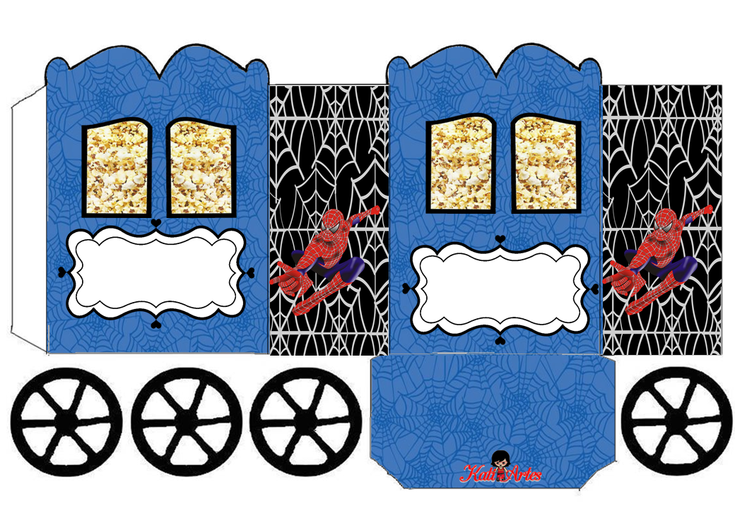Spiderman: Princess Carriage Shaped Free Printable Box.