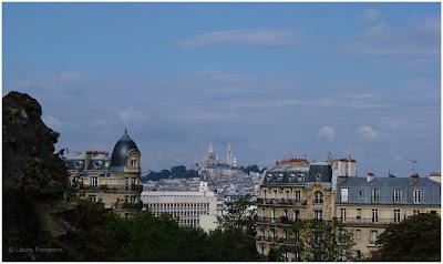 Vista para o Sacré-Coeur - Parc des Buttes-Chaumont, Paris
