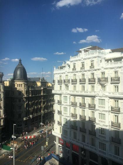 Vista panorámica de Madrid desde la Gran Vía