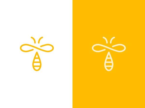 Inspirasi Desain Logo Monoline 2017 - Infinibee Monoline Logo