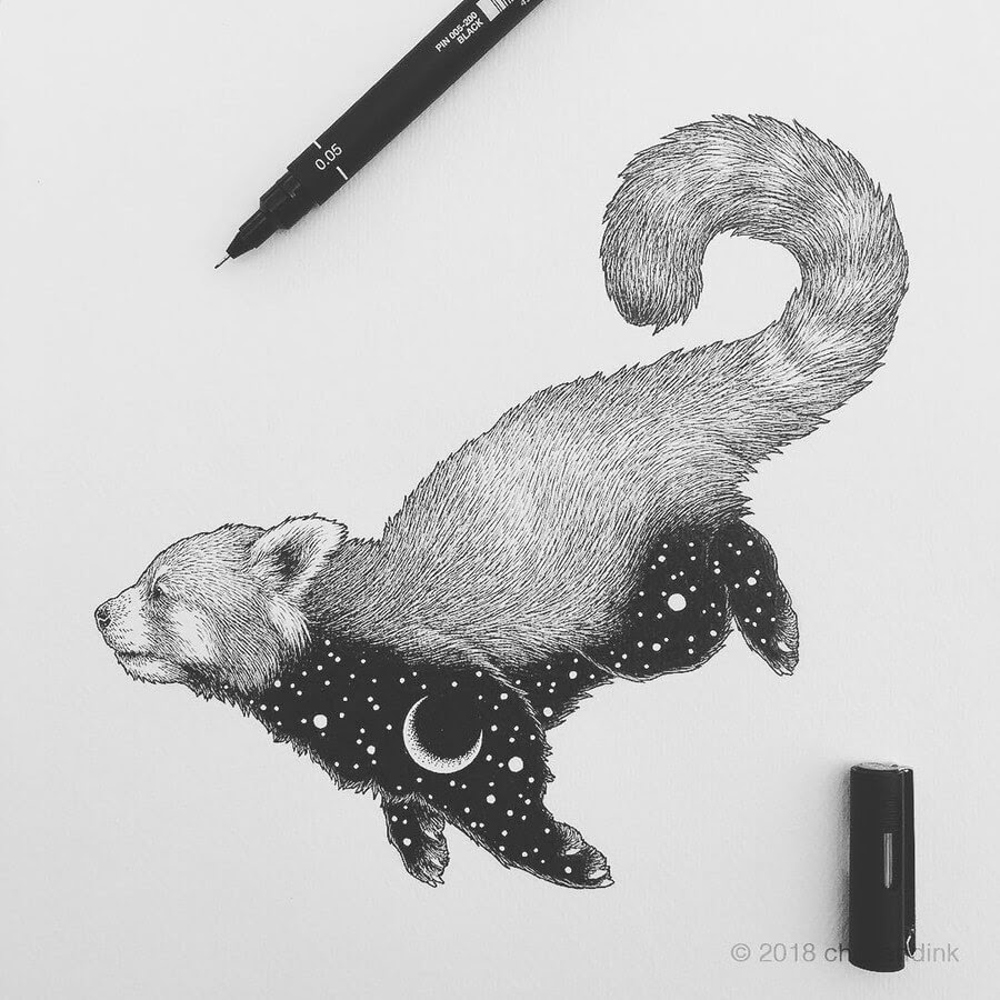 13-Red-Panda-Astral-Animals-Chen-Naje-www-designstack-co