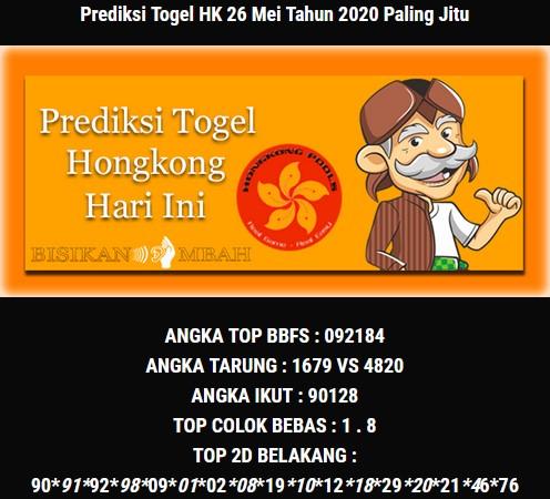 Prediksi HK Selasa 26 Mei 2020 - Bisikan Mbah