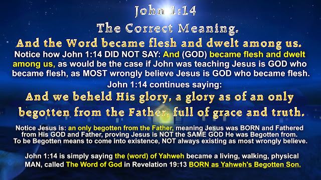 John 1:14 The Correct Meaning.